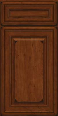 Square Raised Panel - Solid (BLC) Cherry in Burnished Autumn Blush - Base