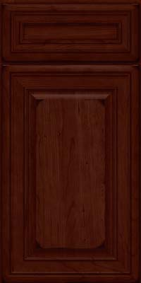 Square Raised Panel - Solid (BLC) Cherry in Burnished Cabernet - Base