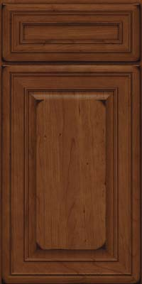 Square Raised Panel - Solid (BLC) Cherry in Burnished Chocolate - Base