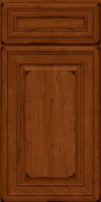 Square Raised Panel - Solid (BLC) Cherry in Burnished Cinnamon - Base