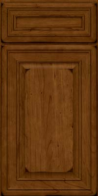 Square Raised Panel - Solid (BLC) Cherry in Burnished Ginger - Base