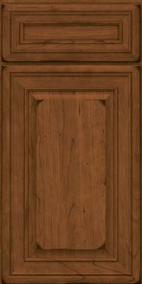 Square Raised Panel - Solid (BLC) Cherry in Burnished Rye - Base