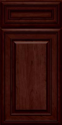 Square Raised Panel - Solid (BLC) Cherry in Cabernet - Base
