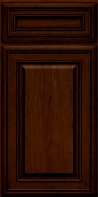 Square Raised Panel - Solid (BLC) Cherry in Chocolate w/Ebony Glaze - Base