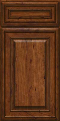 Square Raised Panel - Solid (BLC) Cherry in Cognac - Base
