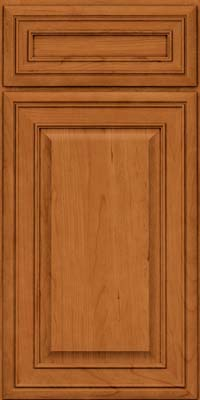Square Raised Panel - Solid (BLC) Cherry in Honey Spice - Base