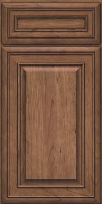 Square Raised Panel - Solid (BLC) Cherry in Husk - Base