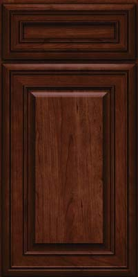 Square Raised Panel - Solid (BLC) Cherry in Kaffe - Base