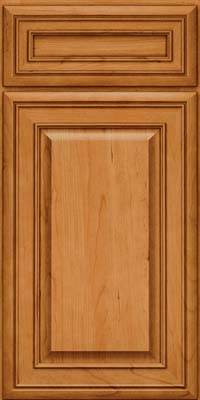 Square Raised Panel - Solid (BLC) Cherry in Natural - Base