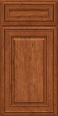 Square Raised Panel - Solid (BLC) Cherry in Sunset - Base