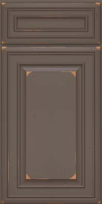 Square Raised Panel - Solid (BLC) Cherry in Vintage Greyloft w/ Sable Patina - Base
