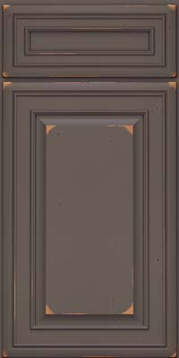 Square Raised Panel - Solid (BLC) Cherry in Vintage Greyloft - Base