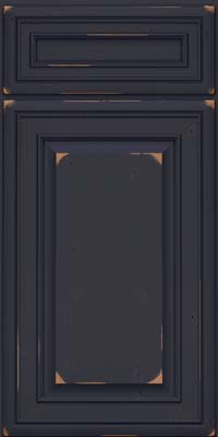 Square Raised Panel - Solid (BLC) Cherry in Vintage Midnight w/ Onyx Patina - Base