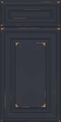 Square Raised Panel - Solid (BLC) Cherry in Vintage Midnight - Base