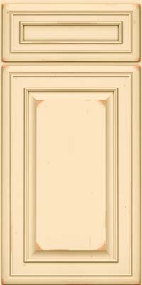 Square Raised Panel - Solid (BLC) Cherry in Vintage Biscotti - Base