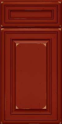 Square Raised Panel - Solid (BLC) Cherry in Vintage Cardinal - Base