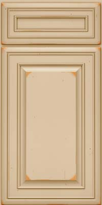 Square Raised Panel - Solid (BLC) Cherry in Vintage Mushroom - Base