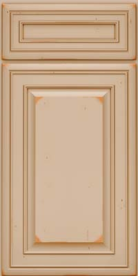 Square Raised Panel - Solid (BLC) Cherry in Vintage Mushroom w/Cocoa Patina - Base