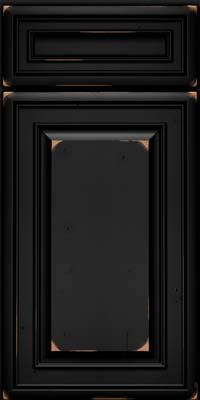 Square Raised Panel - Solid (BLC) Cherry in Vintage Onyx - Base