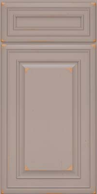 Square Raised Panel - Solid (BLC) Cherry in Vintage Pebble Grey - Base
