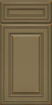 Square Raised Panel - Solid (BLC) Cherry in Vintage Sage - Base