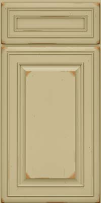 Square Raised Panel - Solid (BLC) Cherry in Vintage Willow - Base
