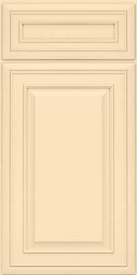 Square Raised Panel - Solid (BLM) Maple in Biscotti w/Coconut Glaze - Base