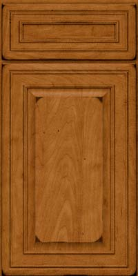 Square Raised Panel - Solid (BLM) Maple in Burnished Golden Lager - Base
