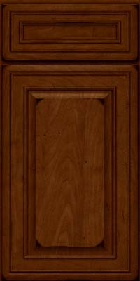 Square Raised Panel - Solid (BLM) Maple in Burnished Chestnut - Base