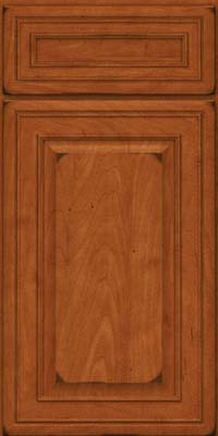 Square Raised Panel - Solid (BLM) Maple in Burnished Cinnamon - Base