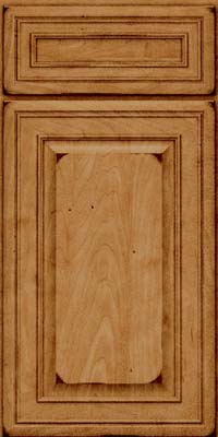 Square Raised Panel - Solid (BLM) Maple in Burnished Ginger - Base