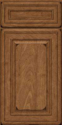 Square Raised Panel - Solid (BLM) Maple in Burnished Rye - Base