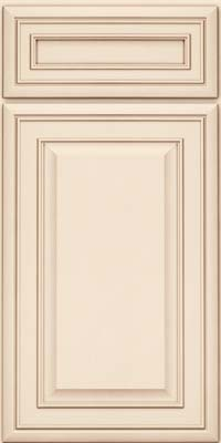 Square Raised Panel - Solid (BLM) Maple in Canvas w/Cocoa Glaze - Base