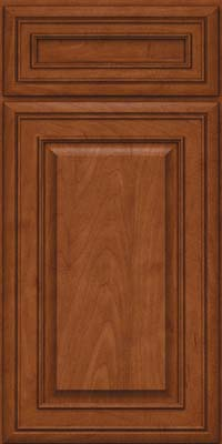 Square Raised Panel - Solid (BLM) Maple in Chestnut - Base