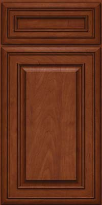 Square Raised Panel - Solid (BLM) Maple in Chestnut w/Onyx Glaze - Base