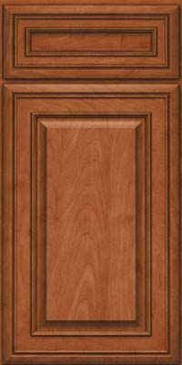 Square Raised Panel - Solid (BLM) Maple in Cinnamon - Base