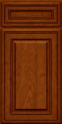 Square Raised Panel - Solid (BLM) Maple in Cinnamon w/Onyx Glaze - Base