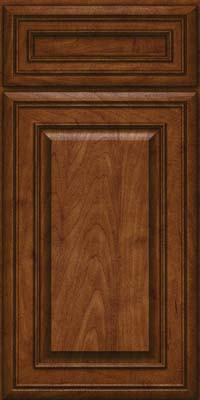 Square Raised Panel - Solid (BLM) Maple in Cognac - Base