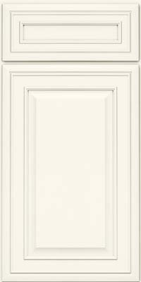 Square Raised Panel - Solid (BLM) Maple in Dove White - Base
