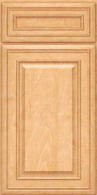 Square Raised Panel - Solid (BLM) Maple in Honey Spice - Base