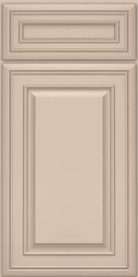 Square Raised Panel - Solid (BLM) Maple in Mushroom w/ Cinder Glaze - Base