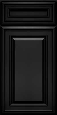 Square Raised Panel - Solid (BLM) Maple in Onyx - Base