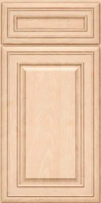 Square Raised Panel - Solid (BLM) Maple in Parchment - Base
