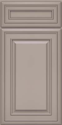 Square Raised Panel - Solid (BLM) Maple in Pebble Grey - Base
