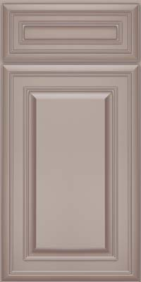 Square Raised Panel - Solid (BLM) Maple in Pebble Grey w/ Cocoa Glaze - Base