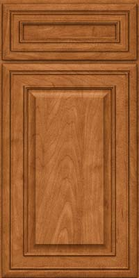 Square Raised Panel - Solid (BLM) Maple in Praline w/Mocha Highlight - Base