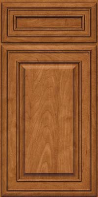 Square Raised Panel - Solid (BLM) Maple in Praline w/Onyx Glaze - Base