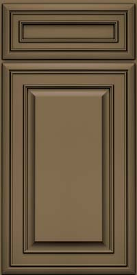Square Raised Panel - Solid (BLM) Maple in Sage w/Onyx Glaze - Base