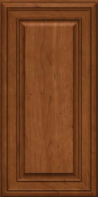 Square Raised Panel - Solid (BLC) Cherry in Antique Chocolate w/Mocha Glaze - Wall