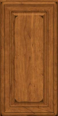 Square Raised Panel - Solid (BLC) Cherry in Burnished Golden Lager - Wall